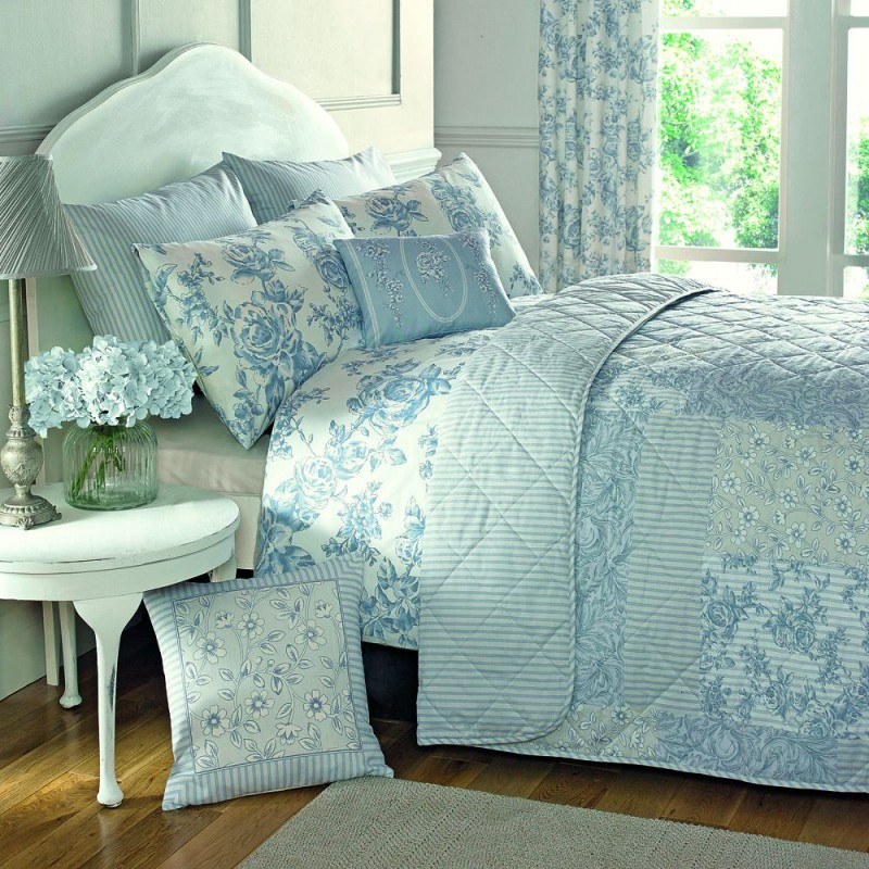 Malton Duvet Cover Set Blue Single