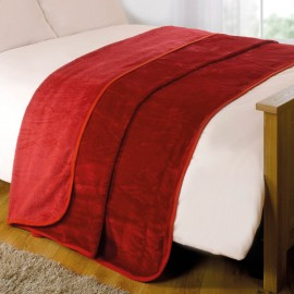 "Luxury Faux Mink Throw 79"" X 95"" in Red"