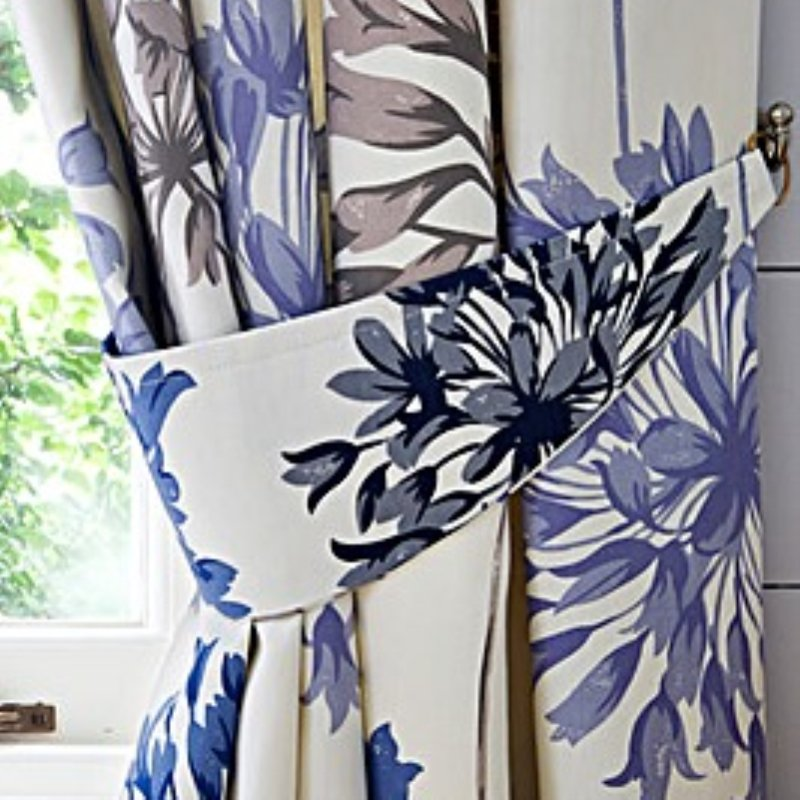 "Dandelion Ready Made Curtains 90"" X 72"" in Blue (R)"