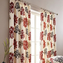 "Dandelion Ready Made Curtains 66"" X 54"" in Burnt Orange (R)"