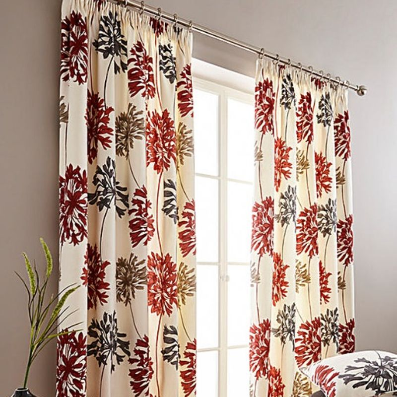 "Dandelion Ready Made Curtains 66"" X 90"" in Burnt Orange (R)"