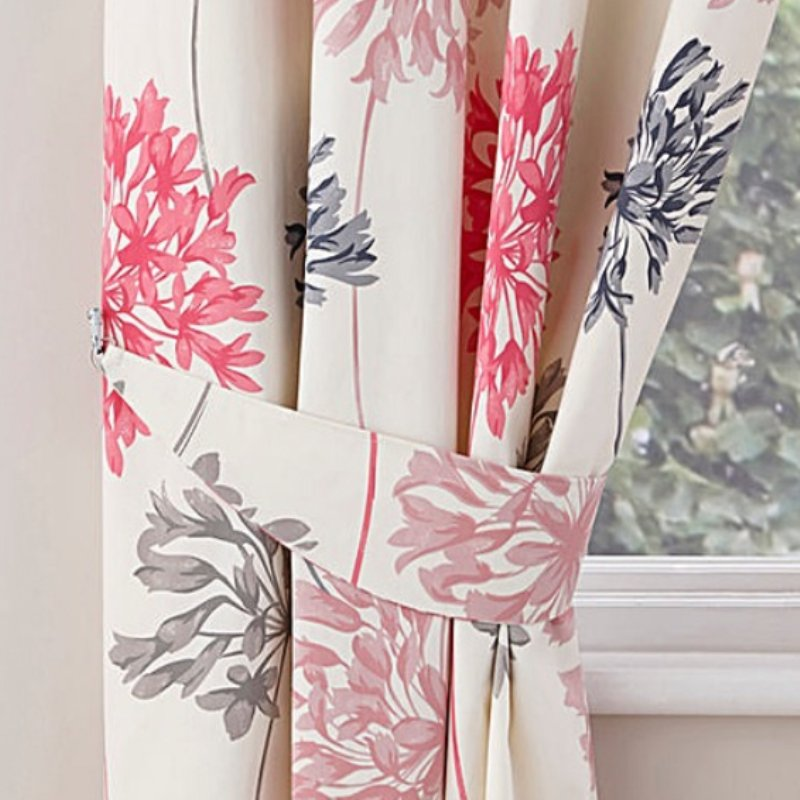 "Dandelion Ready Made Curtains 66"" X 54"" in Pink (R)"