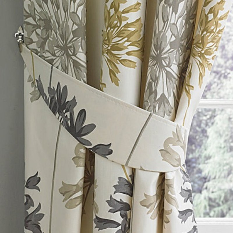 "Dandelion Ready Made Curtains 66"" X 54"" in Natural (R)"