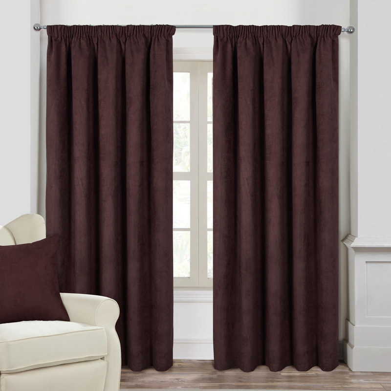 """Faux Suede Ready made curtains 90"""" Wide X 90"""" Drop  Rufflette"""